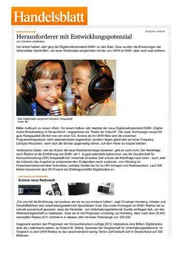 Handelsblatt - pure fm – berlins dance radio