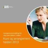 Kurs og arrangement høsten 2013 - Difi