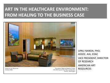 ART IN THE HEALTHCARE ENVIRONMENT: AN EVIDENCE ...