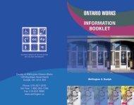 Ontario Works - County of Wellington