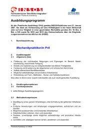 Ausbildungsprogramm - Appisberg