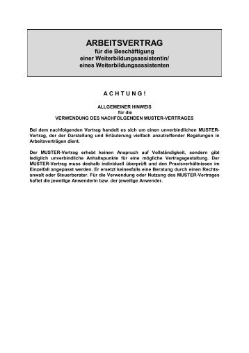 arbeitsvertrag - Muster Arbeitsvertrag Geringfugige Beschaftigung