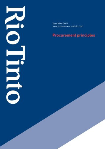 download: Procurement principles - Rio Tinto Procurement