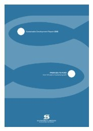 Sustainable Development Report 2012 - Sanford Limited