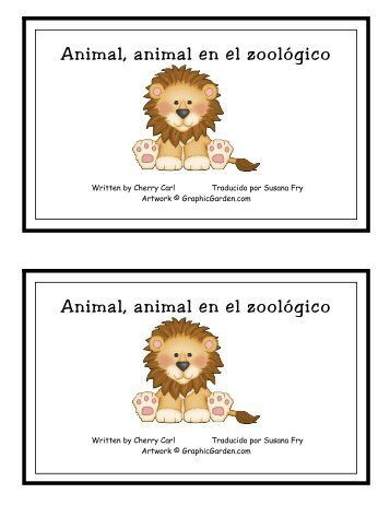 Animal, animal en el zoológico Animal, animal en ... - Little Book Lane