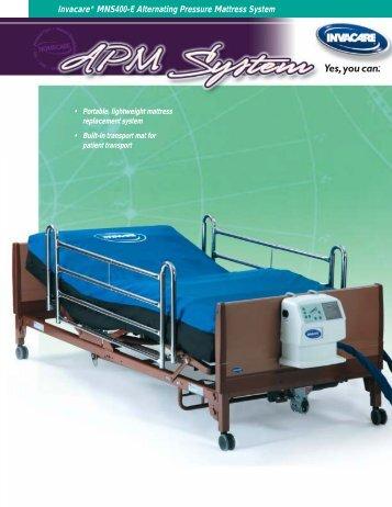 invacare mns400e alternating pressure mattress system