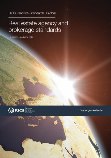 RICS Real estate agency and brokerage standards 2011