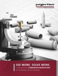Dowload the Projectina Comparison Microscope brochure (PDF).