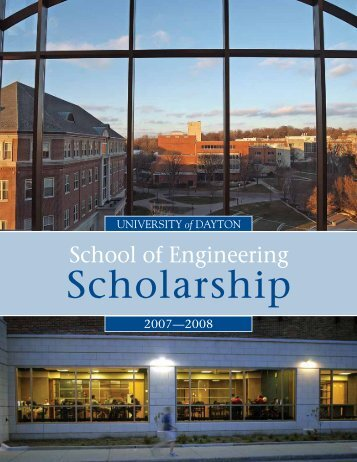 Research and Scholarship 2007-2008 (PDF) - University of Dayton