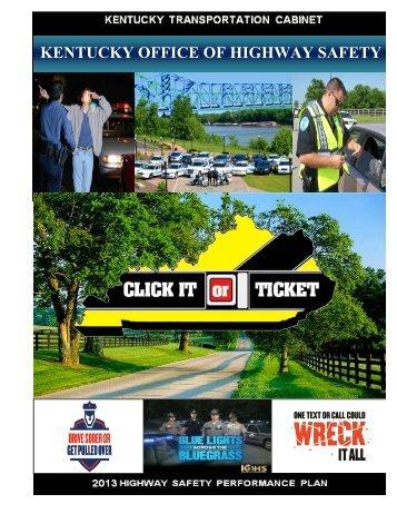 FY2013 HSP Master Copy.doc   Kentucky Transportation Cabinet