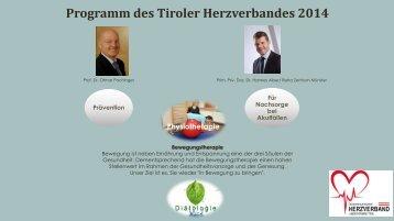 Programm des Tiroler Herzverbandes 2014