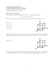 Calculating Line Elements in Cylindrical and Spherical Coordinates ...