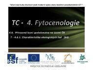 Charakteristika ekologických řad - Projekt EU