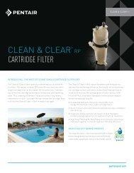 Clean & Clear RP Cartridge Filter - Pentair