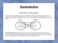 Hashtabellen - Fakultät für Mathematik und Informatik