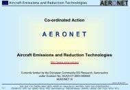 Aircraft Emission and Reduction Technologies - Aeronautics Days ...