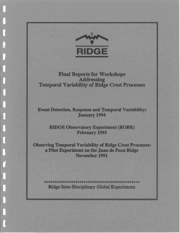 Reports - Ridge 2000 Program