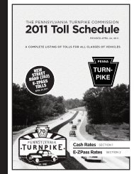 PIKE 2011 Toll Schedule - The Pennsylvania Turnpike