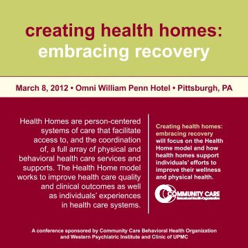 creating health homes: embracing recovery - Community Care ...