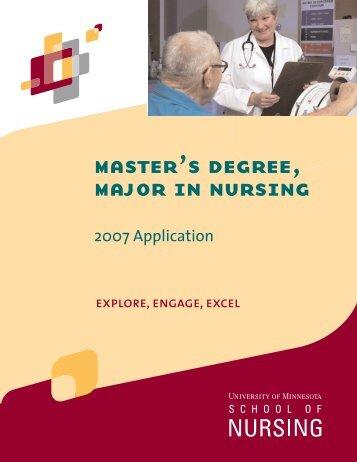 2007 application - School of Nursing - University of Minnesota