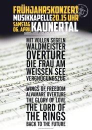 Frühjahrskonzert 2013 – Folder - Musikkapelle Kaunertal