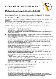 Sportordnung Anlage Richtlinie D.P.B. Beiblatt Quali - Deutscher ...