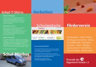 Förderverein Schul-Minibus Herbstfest Schulwebsite - Eigenherd