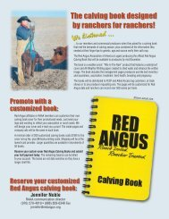 The calving book designed by ranchers for ranchers! - Red Angus ...