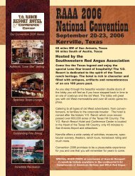 CONVENTION JA06 AD - Red Angus Association of America