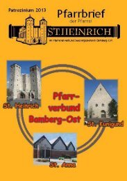 Pfarrbrief II/2013 - St. Heinrich Bamberg