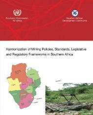 Harmonization of Mining Policies, Standards, Legislative