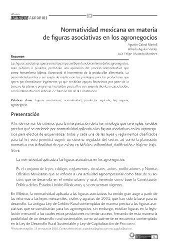 Normatividad mexicana en materia de figuras asociativas en los ...