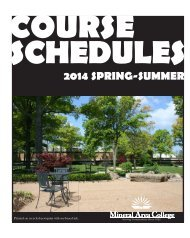 Mineral Area College Schedule Booklet 2013 Spring-Summer ...