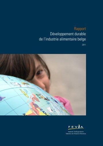 Rapport Développement durable de l'industrie alimentaire belge