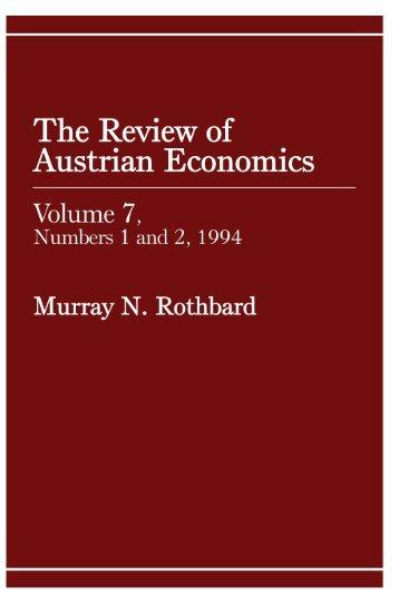 the i review of austrian economics - The Ludwig von Mises Institute