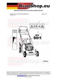 Sabo Benzinmäher 52-152 H TA M.A. SA242 bis 001441 www ...