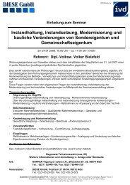 Instandhaltung, Instandsetzung, Modernisierung und ... - DIESE GMBH