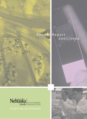 2001-2002 Annual Report - Office of Research & Economic ...