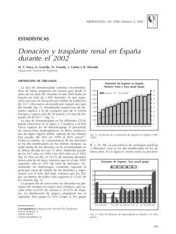Donacion y tx renal 2002 - Organización Nacional de Trasplantes