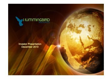 Investor Presentation December 2010 - Proactive Investors