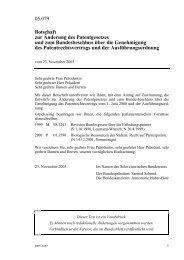 Botschaftsunterlagen - Eidgenössisches Institut für Geistiges Eigentum