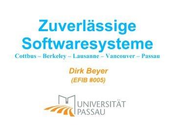 Zuverlässige Softwaresysteme - Software Systems Lab