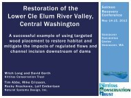 Restoration of the Lower Cle Elum River Valley, Central Washington