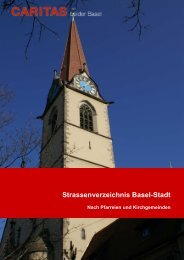 Strassenverzeichnis - Caritas beider Basel