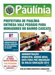 999 - Edição Normal - Prefeitura Municipal de Paulínia