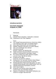 Inhaltsverzeichnis FALSTAFF-MAGAZIN Ausgabe 01/2008 ...