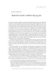 'Rytmisk musik' mellem høj og lav - dansk musikforskning online