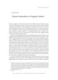 Genre Formation in Popular Music