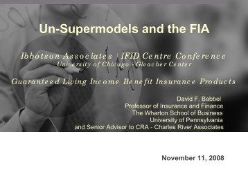 Un-Supermodels and the FIA - Morningstar