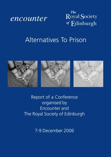Alternatives to Prison - The Royal Society of Edinburgh